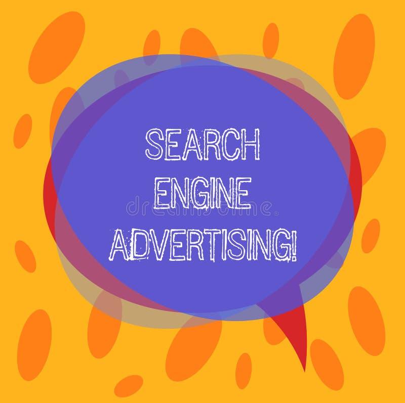 概念性手文字陈列搜索引擎广告 企业照片文本方法安置网上 向量例证