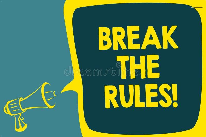 概念性手文字陈列断裂规则 企业照片陈列做变动做一切另外叛乱改革S 皇族释放例证