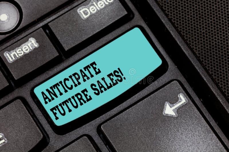 概念性手文字陈列期望未来销售 企业重视有利的照片文本一种投资和 免版税库存照片