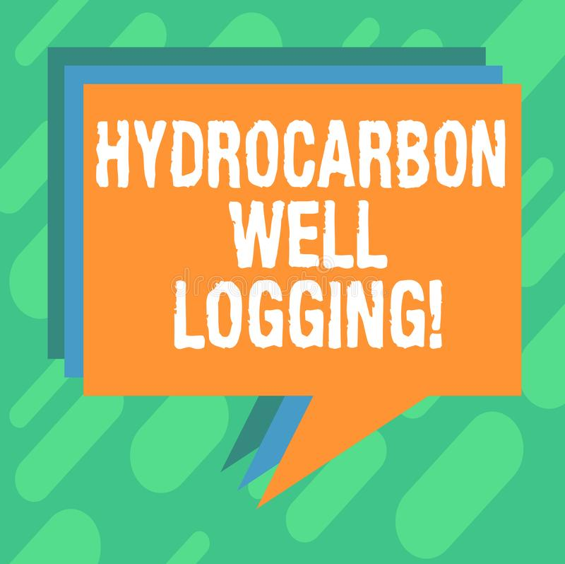 概念性手文字陈列碳氢化合物钻井测试 a的地质结构的企业照片陈列的纪录 库存例证