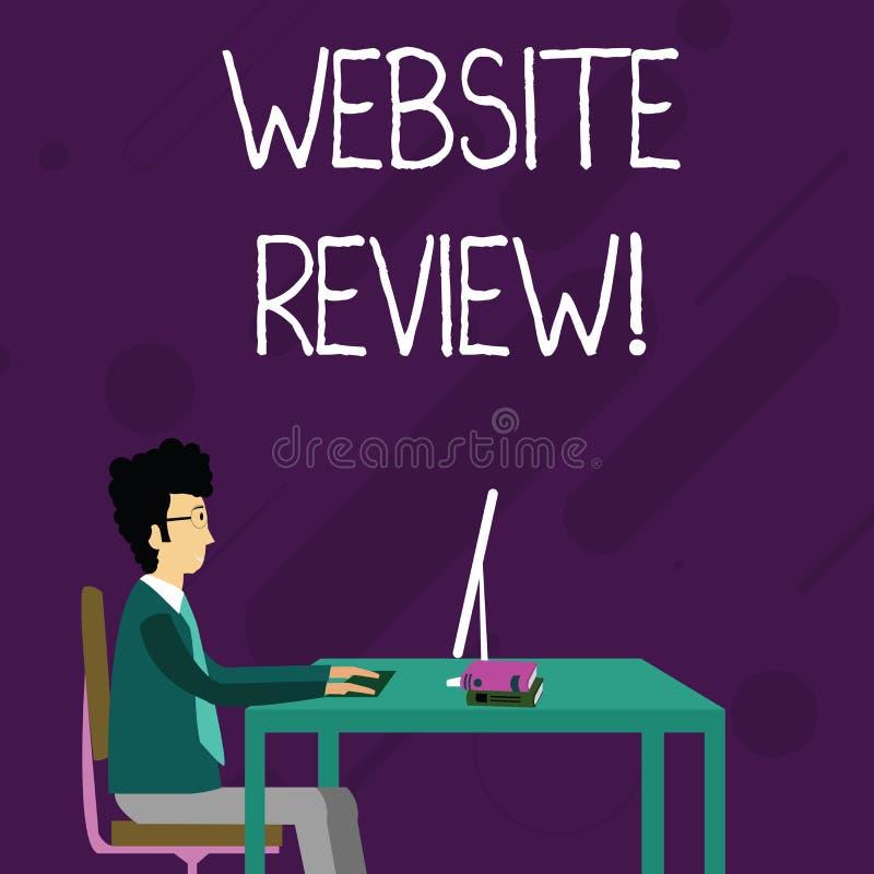 概念性手文字陈列网站回顾 陈列用户额定值和评估的企业照片 皇族释放例证