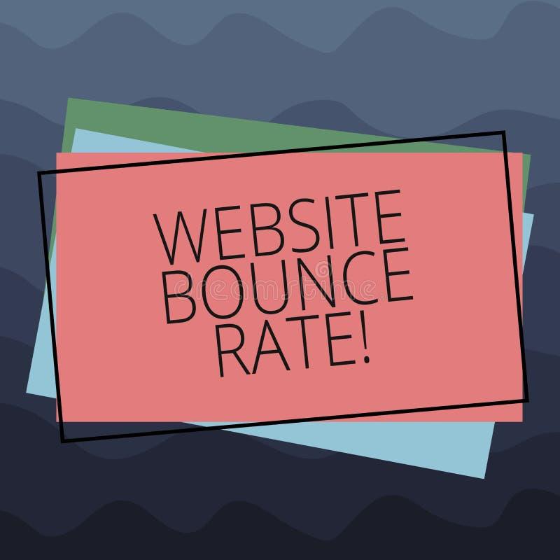 概念性手文字陈列网站跳动率 企业照片文本互联网用于网交通的市场术语 向量例证