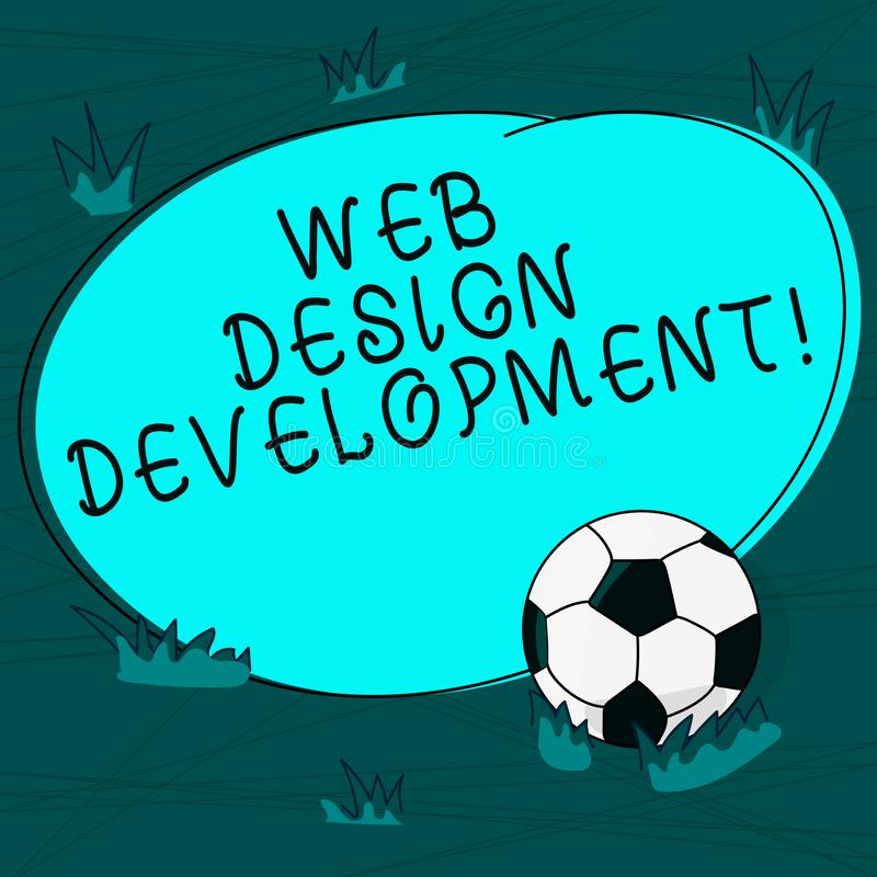 概念性手文字陈列网络设计发展 主持的企业照片文本开发的网站通过内部网 皇族释放例证