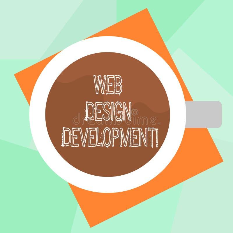 概念性手文字陈列网络设计发展 主持的企业照片文本开发的网站通过内部网 库存例证