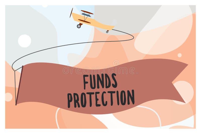 概念性手文字陈列资助保护 企业照片文本诺言退回部分最初的投资到投资者 皇族释放例证