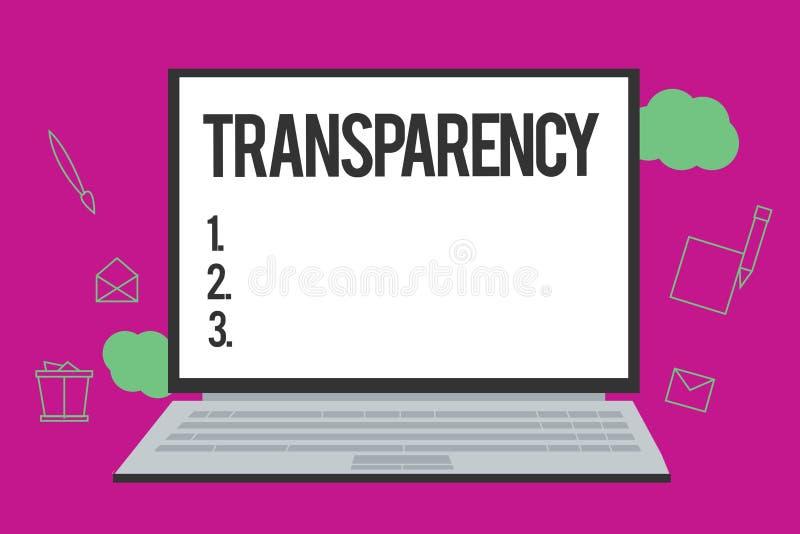 概念性手文字陈列透明度 企业照片是文本的情况透明清楚明显显然的 皇族释放例证