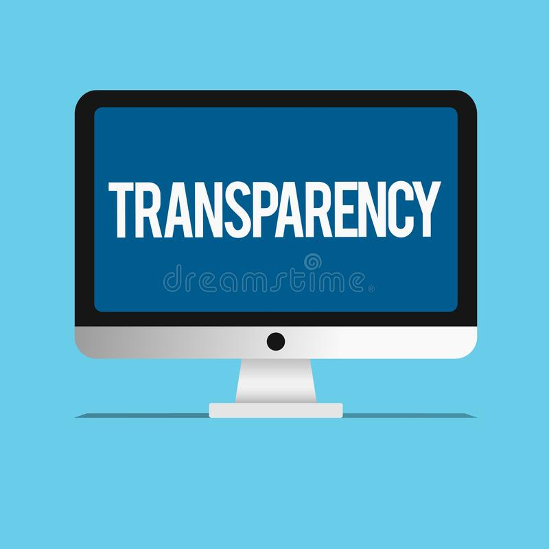 概念性手文字陈列透明度 是企业照片陈列的情况透明清楚明显显然的 皇族释放例证