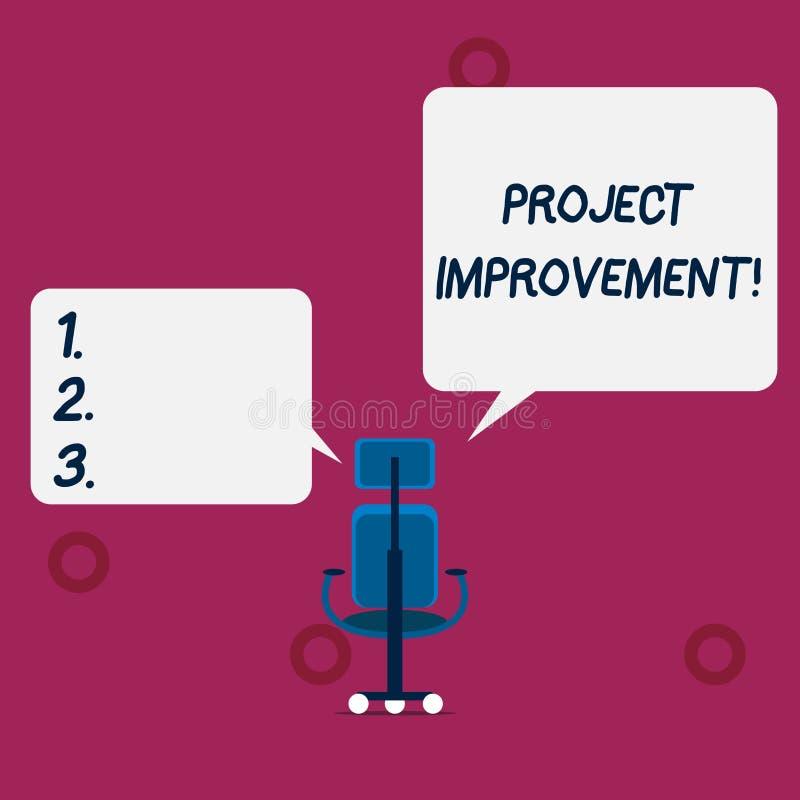 概念性手文字陈列项目改善 企业照片文本完成的方法技术被定义 向量例证