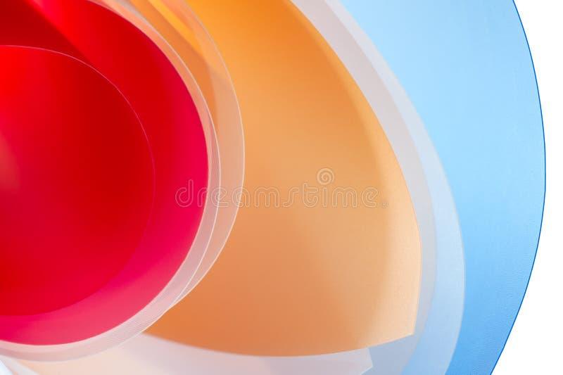 概念性照片-从多彩多姿的光滑的板料的背景 向量例证