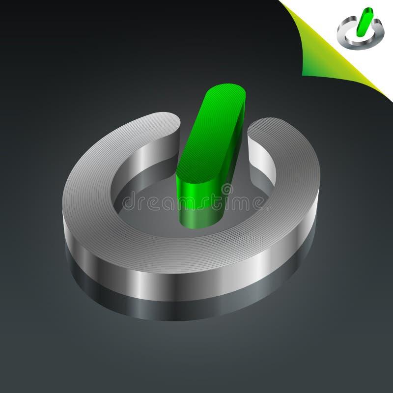概念性能源绿色图标次幂 向量例证
