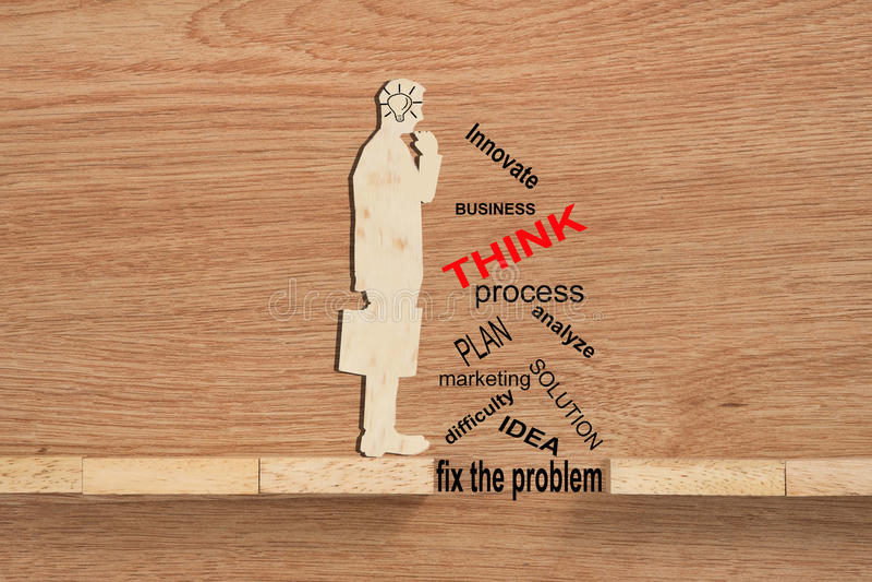 概念性解决问题,克服挑战和使用i 免版税库存照片