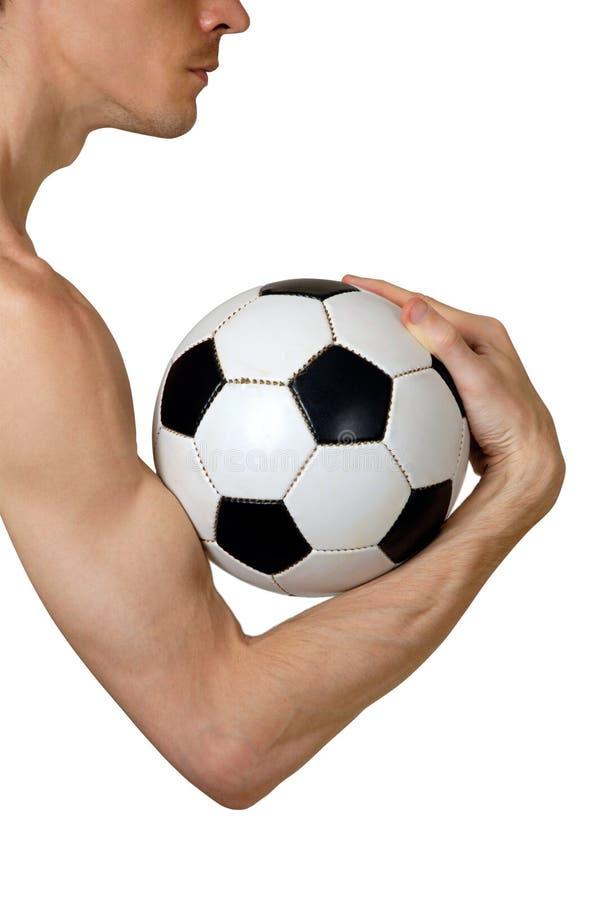 概念性足球 免版税图库摄影