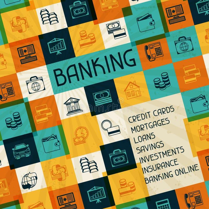 概念性银行业务和企业背景 向量例证
