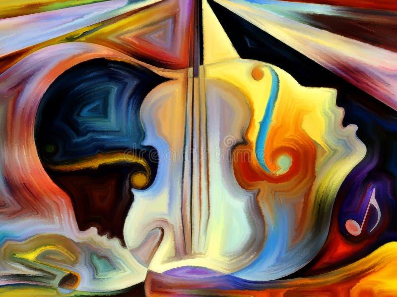 概念性音乐 向量例证