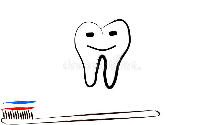概念愉快的牙 库存例证