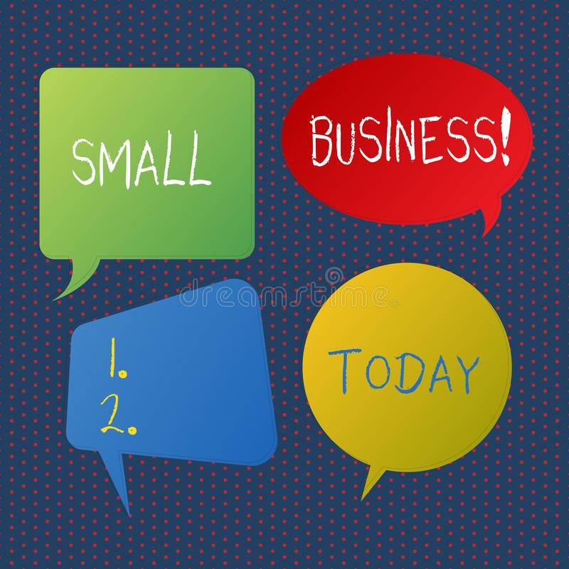 写小企业的手写文本 概念意思独立地拥有了并且在大小上操作了公司被限制的空白 向量例证