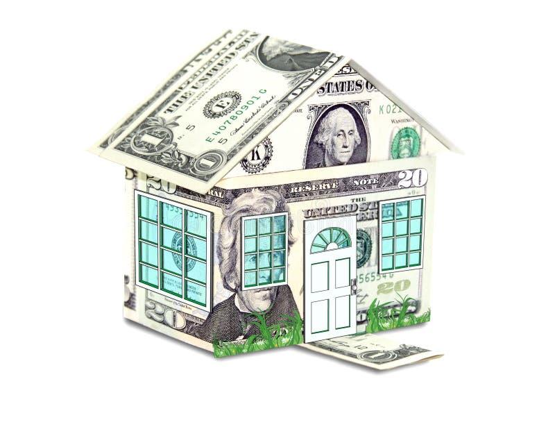 概念房子货币 免版税库存图片