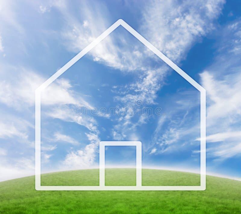 概念房子 免版税库存照片