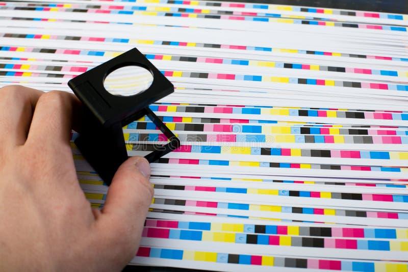 概念打印生产 免版税库存照片