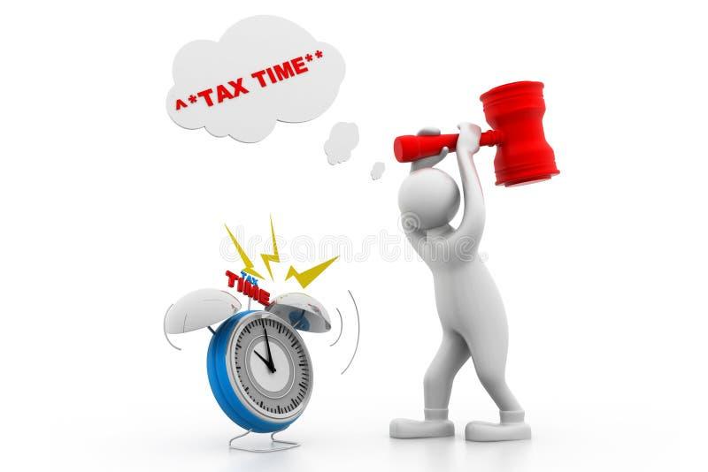 1040年概念放置包税时间顶层的表单指令 向量例证