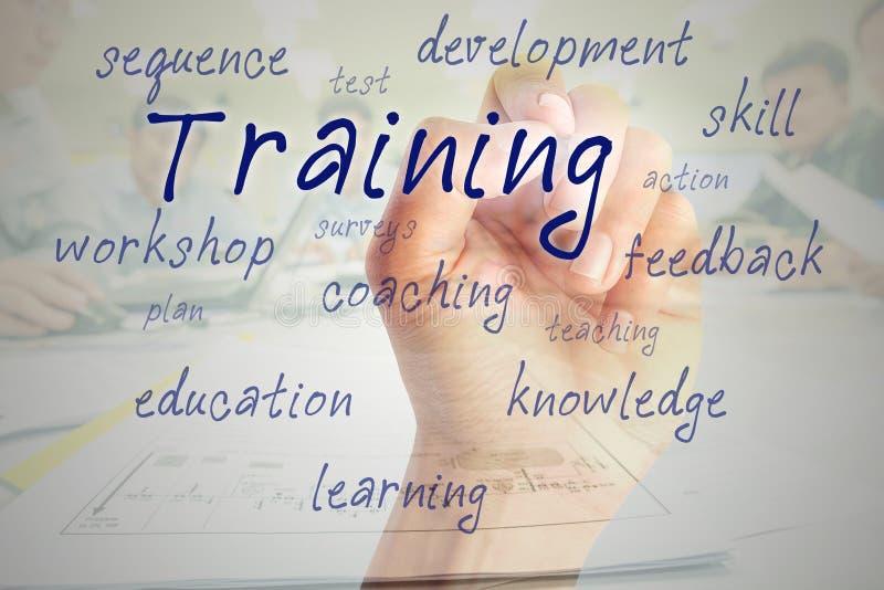 概念教育查出的培训的白色 免版税库存照片