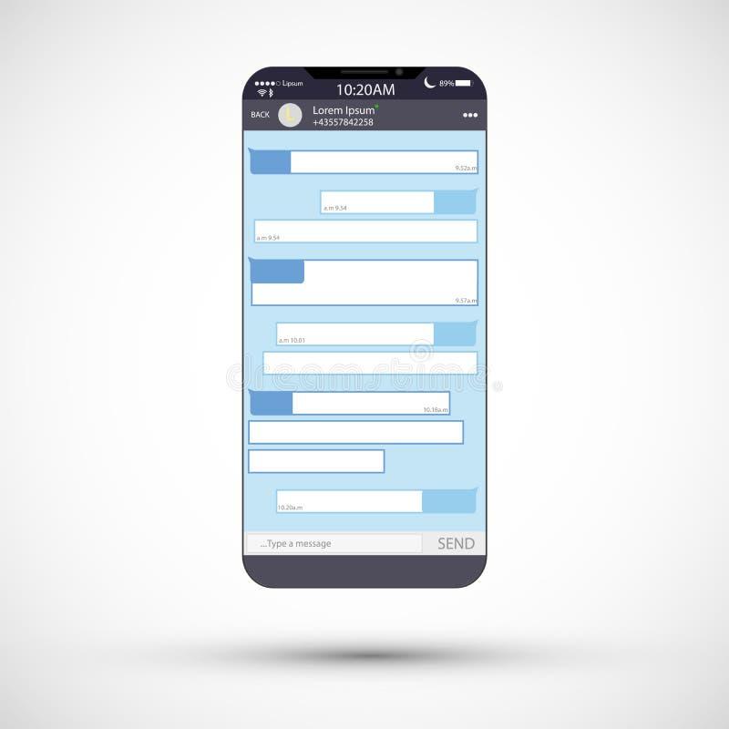 概念数位生成了喂图象网络res社交 空白模板 抽象例证信使向量视窗 Chating和传讯概念 向量例证