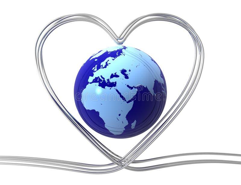 概念数字式爱世界 皇族释放例证
