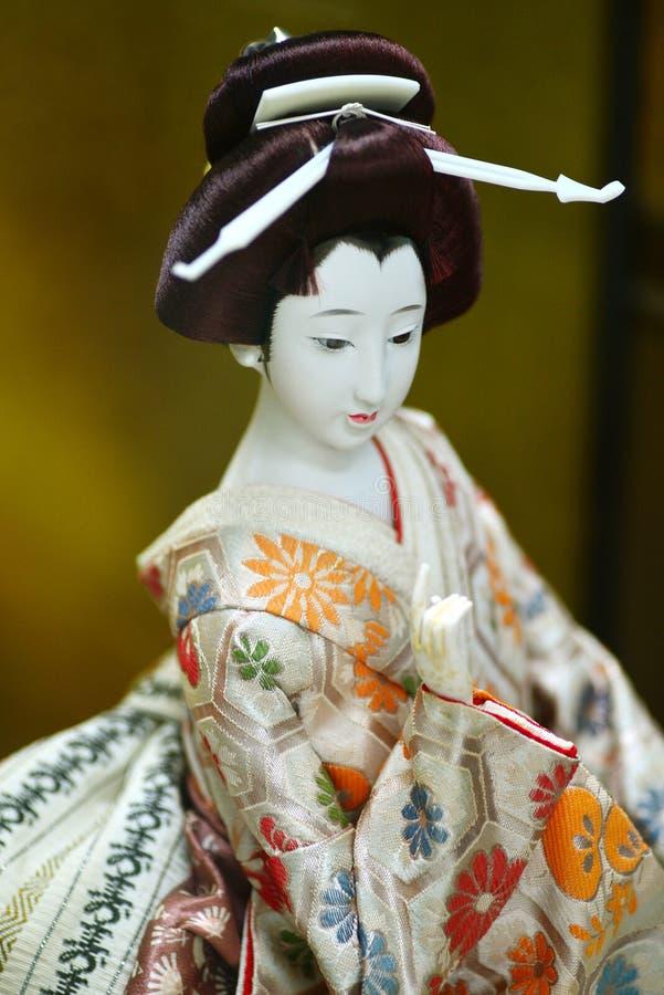 概念文化玩偶艺妓传统的日本 免版税库存图片