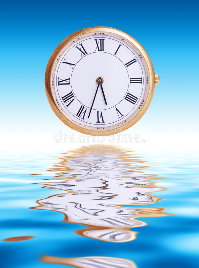 概念时间 向量例证