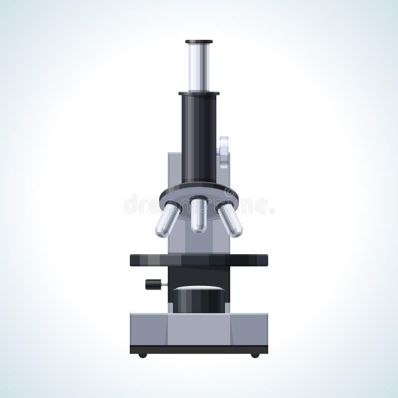概念显微镜 标志一个老实验室研究,教育,科学研究 皇族释放例证