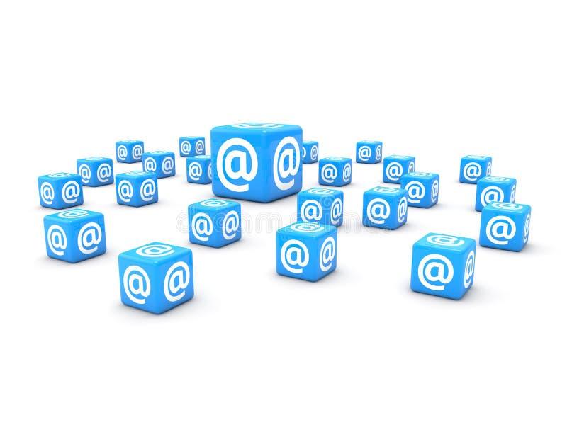 概念有信函邮件符号 皇族释放例证