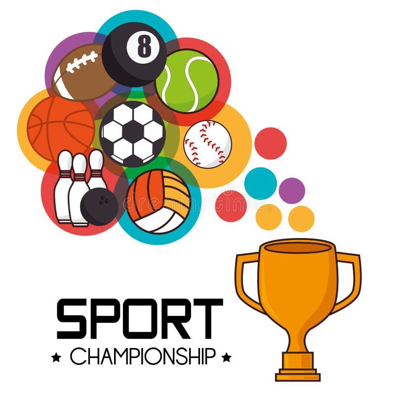 概念查出的体育运动白色 向量例证