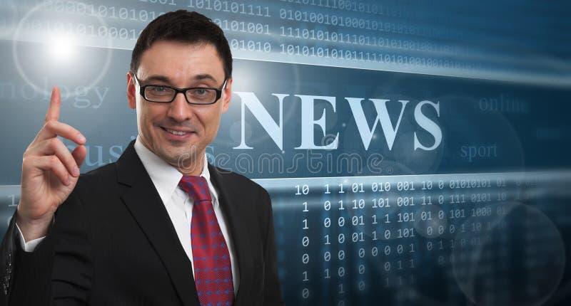 概念标记许多新闻纸字 免版税库存图片