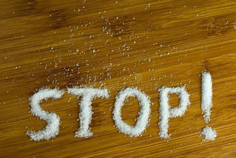 概念没有糖饮食 免版税库存照片