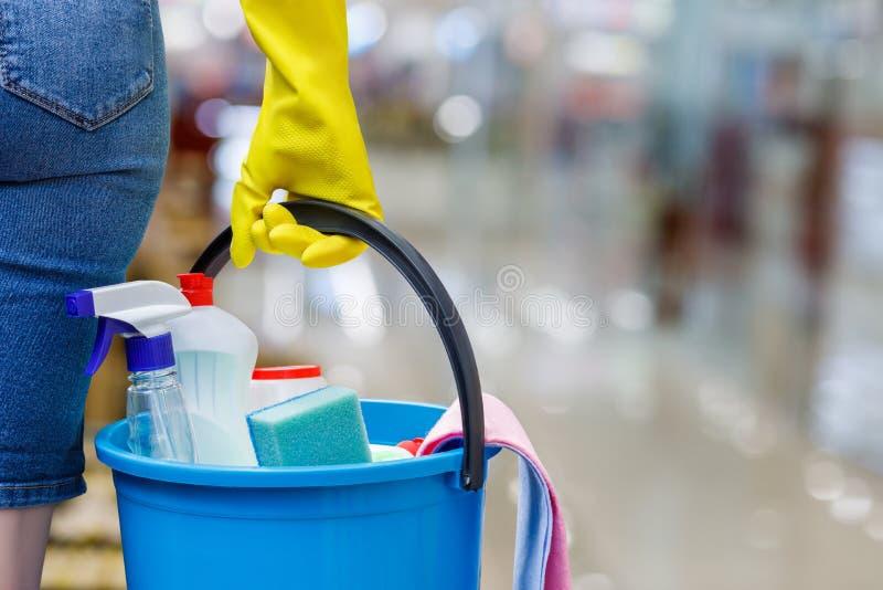 概念清洁服务 免版税库存照片
