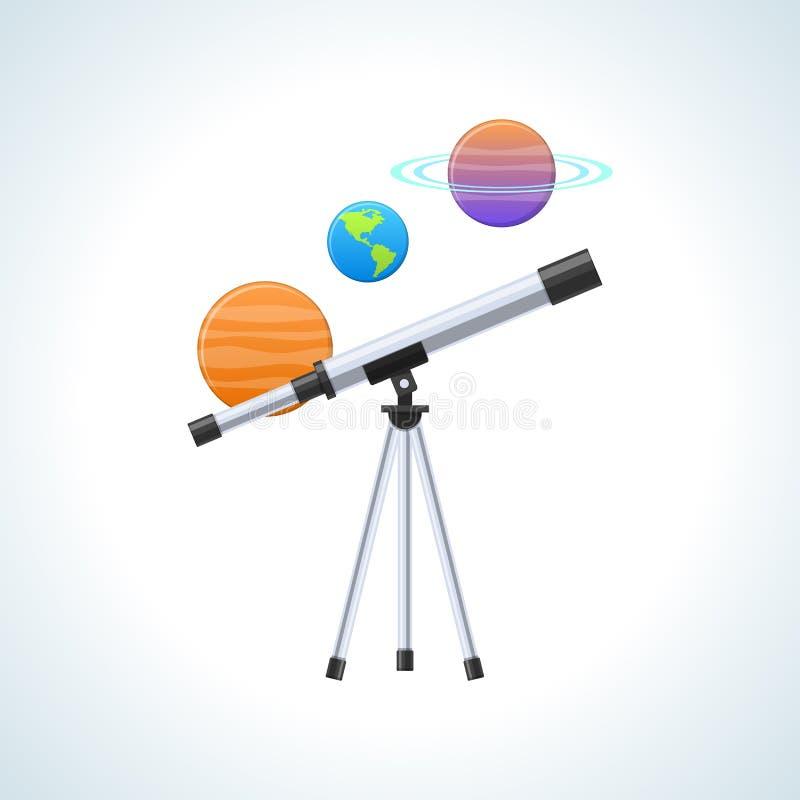 概念现代教育、知识、科学、天文和地理,信息技术 库存例证