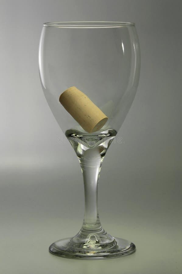 概念玻璃满意度酒 免版税图库摄影