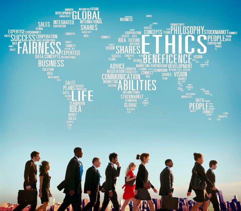 概念理想原则道德标准概念 库存图片