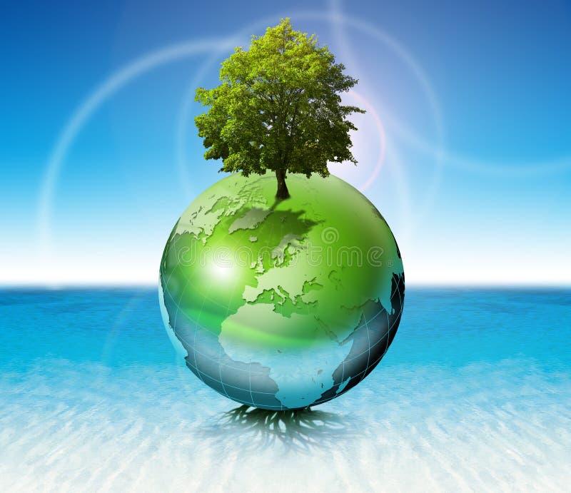 概念生态结构树世界 库存例证
