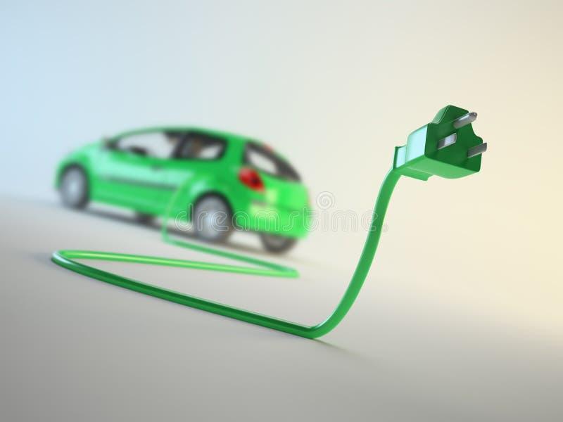 概念电动车 向量例证