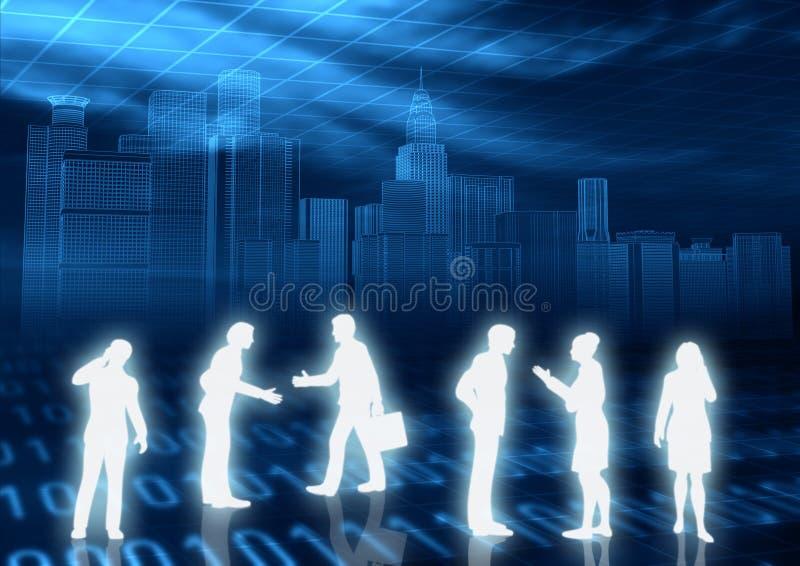 概念电子商务 皇族释放例证