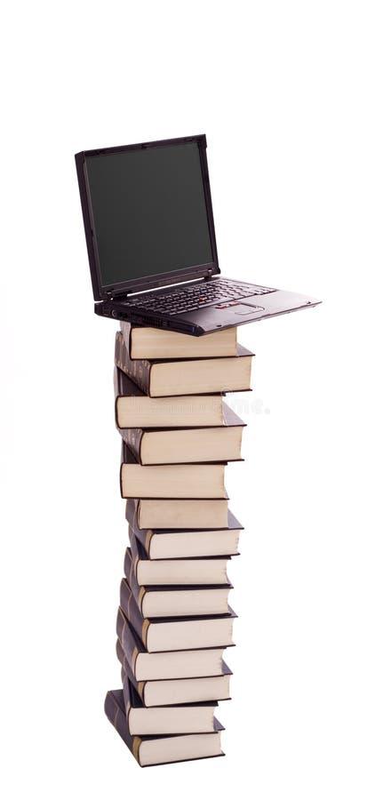 概念电子图书馆 免版税图库摄影