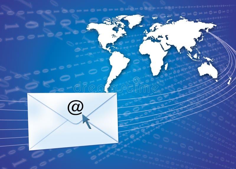 概念电子邮件地球 库存例证