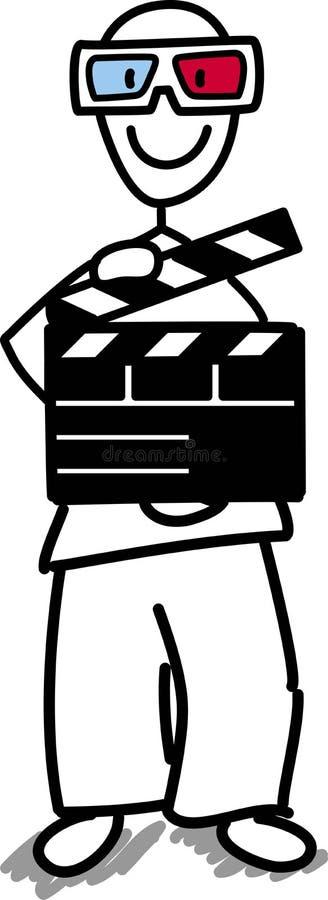 概念电影工业 库存照片