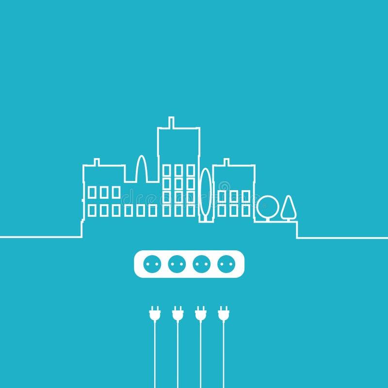 概念电Circuit City 传染媒介平的设计 库存例证