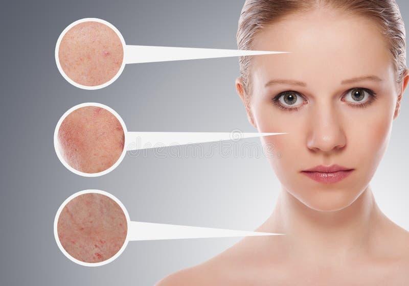 概念皮肤skincare妇女 免版税图库摄影