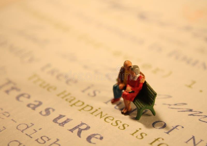 概念真夫妇的幸福 免版税库存图片