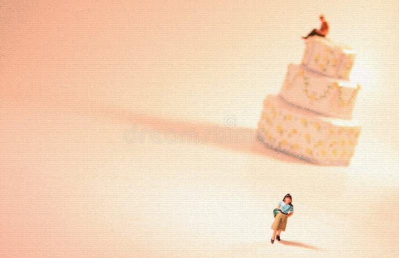 概念离婚分隔 库存例证