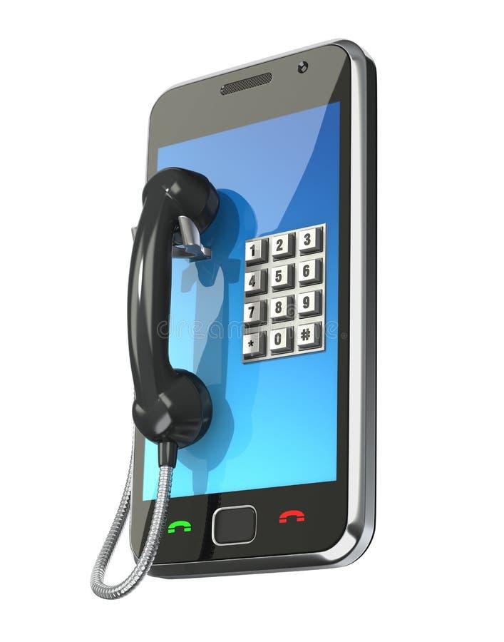概念移动电话 库存例证