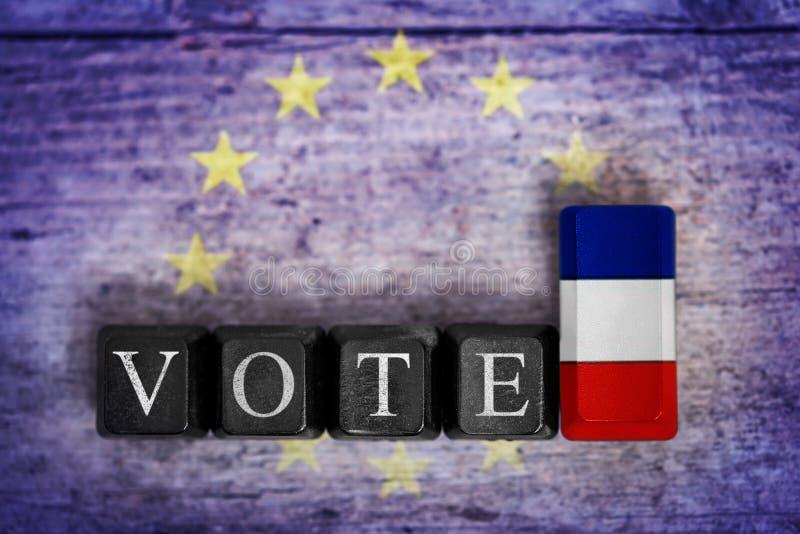 概念竞选在法国 库存图片